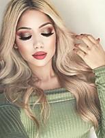 abordables -Perruque Synthétique Ondulé / Ondulation naturelle Partie médiane Cheveux Synthétiques 26 pouce Soirée / Classique / Synthétique Blond / A Ombre Perruque Femme Long Sans bonnet Blond Platine
