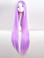 Недорогие -Парики из искусственных волос Естественный прямой Средняя часть Искусственные волосы 34 дюймовый Для вечеринок Красный / Черный Парик Жен. Очень длинный Без шапочки-основы Фиолетовый Белый Синий