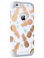 baratos -BENTOBEN Capinha Para Apple iPhone 6 Plus / iPhone 6s Plus Antichoque / Estampada Capa traseira Fruta Rígida PC / silica Gel para iPhone 6s Plus / iPhone 6 Plus