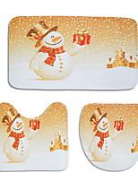 Недорогие -3 предмета Традиционный Коврики для ванны 100 г / м2 полиэфирный стреч-трикотаж Креатив Прямоугольная Ванная комната Новый дизайн