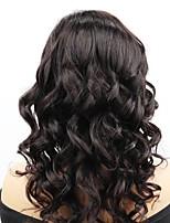 Недорогие -Remy Полностью ленточные Лента спереди Парик Бразильские волосы Волнистый Естественные кудри Парик Ассиметричная стрижка 130% 150% 180% Плотность волос Мягкость Регулируется Женский Нейтральный Черный