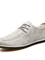 Недорогие -Муж. Комфортная обувь Полиуретан Осень На каждый день Туфли на шнуровке Дышащий Черный / Оранжевый / Серый