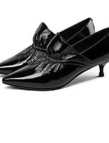 abordables -Femme Escarpins Peau de mouton Automne Chaussures à Talons Talon Aiguille Noir / Bleu royal