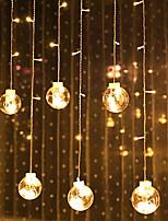 abordables -2,5 m Guirlandes Lumineuses 12 LED Blanc Chaud Décorative Alimenté par Port USB 1 set