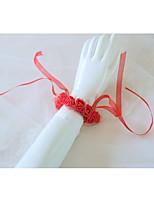 Недорогие -Свадебные цветы Букетик на запястье Свадьба / Свадебные прием Шелковый Как атласные / пена 0-10 cm