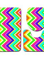 Недорогие -3 предмета Modern Коврики для ванны 100 г / м2 полиэфирный стреч-трикотаж Креатив / Геометрический принт нерегулярный Ванная комната Новый дизайн