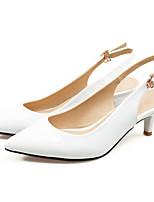 Недорогие -Жен. Комфортная обувь Полиуретан Лето Обувь на каблуках На шпильке Белый / Черный / Красный / Свадьба / Повседневные