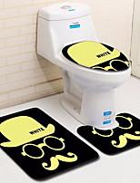 Недорогие -3 предмета Modern Коврики для ванны 100 г / м2 полиэфирный стреч-трикотаж Креатив Прямоугольная Ванная комната Новый дизайн
