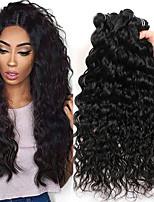 Недорогие -3 Связки Бразильские волосы Волнистые Натуральные волосы Необработанные натуральные волосы Подарки Косплей Костюмы Человека ткет Волосы 8-28 дюймовый Естественный цвет Ткет человеческих волос