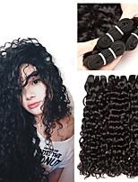 Недорогие -3 Связки Индийские волосы Волнистые 8A Натуральные волосы Человека ткет Волосы Пучок волос One Pack Solution 8-28 дюймовый Нейтральный Естественный цвет Ткет человеческих волос Машинное плетение