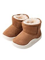 Недорогие -Мальчики / Девочки Обувь Замша Зима Удобная обувь / Зимние сапоги Ботинки для Дети (1-4 лет) Кофейный / Розовый / Верблюжий