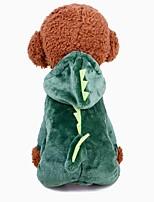 baratos -Cachorros Fantasias Roupas para Cães Sólido Verde 1.0 / Algodão Ocasiões Especiais Para animais de estimação Masculino / Feminino Fantasias / Aquecimento