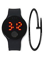 Недорогие -Муж. электронные часы Цифровой 30 m Защита от влаги ЖК экран силиконовый Группа Цифровой На каждый день Мода Черный / Белый / Синий - Желтый Красный Синий