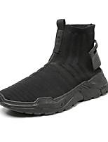Недорогие -Муж. Комфортная обувь Сетка Осень На каждый день Кеды Высота возрастающей Черный / Черно-белый / Черный / Красный