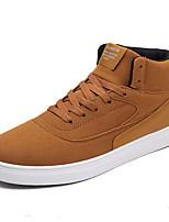 abordables -Homme Chaussures de confort Polyuréthane Automne Décontracté Basket Ne glisse pas Noir / Café / Marron