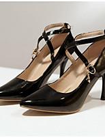 Недорогие -Жен. Комфортная обувь Лакированная кожа Весна Обувь на каблуках На шпильке Черный / Красный / Синий