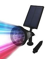 Недорогие -1шт 3 W Солнечный свет стены Водонепроницаемый / Работает от солнечной энергии / Диммируемая Тёплый белый / Холодный белый / RGB 3.7 V Уличное освещение / двор / Сад 7 Светодиодные бусины