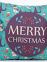 Недорогие -Наволочка Новогодняя тематика холст Квадратный Оригинальные Рождественские украшения