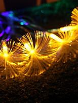 abordables -10m Guirlandes Lumineuses 138 LED Blanc Chaud Décorative Piles AA alimentées 1 set