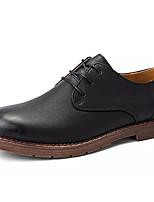 Недорогие -Муж. Комфортная обувь Полиуретан Осень Туфли на шнуровке Черный / Серый / Коричневый