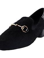 Недорогие -Жен. Балетки Полиуретан Осень Обувь на каблуках Блочная пятка Круглый носок Черный / Верблюжий / Повседневные