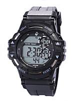 Недорогие -Муж. электронные часы Цифровой 30 m Защита от влаги ЖК экран Фосфоресцирующий силиконовый Группа Цифровой Винтаж Мода Черный - Зеленый Синий Розовое золото