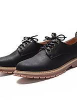 baratos -Homens Sapatos Confortáveis Couro Ecológico Outono Oxfords Preto / Amarelo / Verde Tropa
