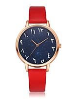 billiga -Dam Armbandsur Quartz Ny Design Vardaglig klocka PU Band Ramtyp Mode Elegant Svart / Vit / Blå - Blå Rosa Ljusblå Ett år Batteriliv