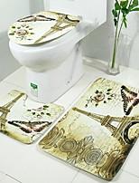Недорогие -3 предмета Modern Коврики для ванны 100 г / м2 полиэфирный стреч-трикотаж Креатив Прямоугольная Ванная комната Очаровательный