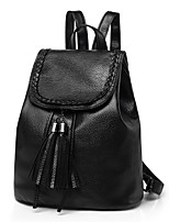 Недорогие -Жен. Мешки PU рюкзак С отверстиями Черный