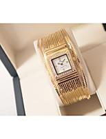abordables -Femme Montre Bracelet Quartz Imitation de diamant Alliage Bande Analogique Mode Argent / Doré - Or Argent / Acier Inoxydable