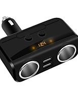 Недорогие -3 в 1 usb автомобильное зарядное устройство с 1-розеткой прикуривателя