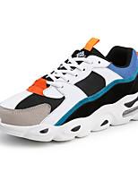 Недорогие -Муж. Комфортная обувь Сетка Наступила зима На каждый день Кеды Контрастных цветов Черный / Черный / Красный / Черный / синий