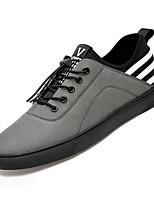 Недорогие -Муж. Комфортная обувь Полотно Осень Кеды Черный / Серый