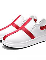 abordables -Homme Chaussures de confort Polyuréthane Automne Décontracté Mocassins et Chaussons+D6148 Ne glisse pas Couleur Pleine Rouge / Noir / blanc / Blanc / Bleu