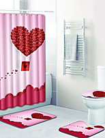 Недорогие -1 комплект Традиционный Коврики для ванны 100 г / м2 полиэфирный стреч-трикотаж Новинки Прямоугольная Ванная комната обожаемый