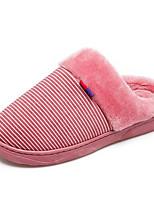 Недорогие -Жен. Комфортная обувь Замша Осень Тапочки и Шлепанцы На плоской подошве Серый / Коричневый