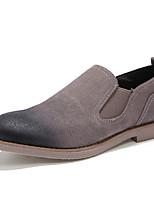 abordables -Homme Chaussures en cuir Cuir Nappa Automne Rétro / Décontracté Mocassins et Chaussons+D6148 Ne glisse pas Noir / Beige / Vin