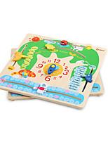 Недорогие -Деревянные пазлы Cool утонченный Взаимодействие родителей и детей деревянный 1 pcs Детские Все Игрушки Подарок