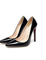 Недорогие -Жен. Комфортная обувь Полиуретан Весна Обувь на каблуках На шпильке Черный / Красный / Миндальный