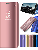 cheap -Case For Samsung Galaxy Note 9 / Note 8 / Note 5 with Stand / Plating / Mirror Full Body Cases Solid Colored Hard PC