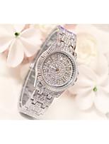 abordables -Femme Montre Bracelet Quartz Imitation de diamant Alliage Bande Analogique Mode Argent / Doré / Rouge Rose - Or Argent Or Rose / Acier Inoxydable