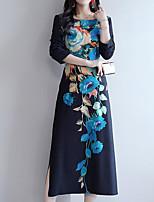 Недорогие -женская выездная оболочка платье midi