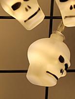 Недорогие -2,5м Гирлянды 20 светодиоды SMD5050 Тёплый белый Декоративная Аккумуляторы AA 1 комплект