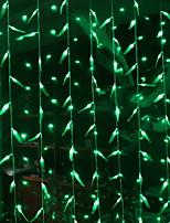 baratos -3M Cordões de Luzes 300 LEDs Verde Decorativa 220-240 V 1conjunto
