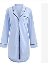 abordables -Col de Chemise Body Pyjamas Homme / Femme Couleur Pleine