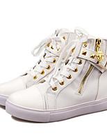 baratos -Mulheres Sapatos Confortáveis Lona Outono Casual Tênis Caminhada Sem Salto Ponta Redonda Presilha Preto / Azul / Rosa claro