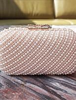 Недорогие -Жен. Мешки PU Вечерняя сумочка Жемчужная отделка Розовый / Бежевый