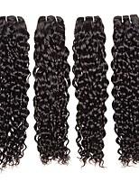 Недорогие -4 Связки Малазийские волосы Волнистые Натуральные волосы Человека ткет Волосы / Накладки из натуральных волос 8-28 дюймовый Естественный цвет Ткет человеческих волос / Мода