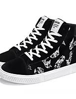 Недорогие -Муж. Комфортная обувь Полиуретан Осень На каждый день Кеды Нескользкий Контрастных цветов Черно-белый / Черный / Красный / Черный / синий